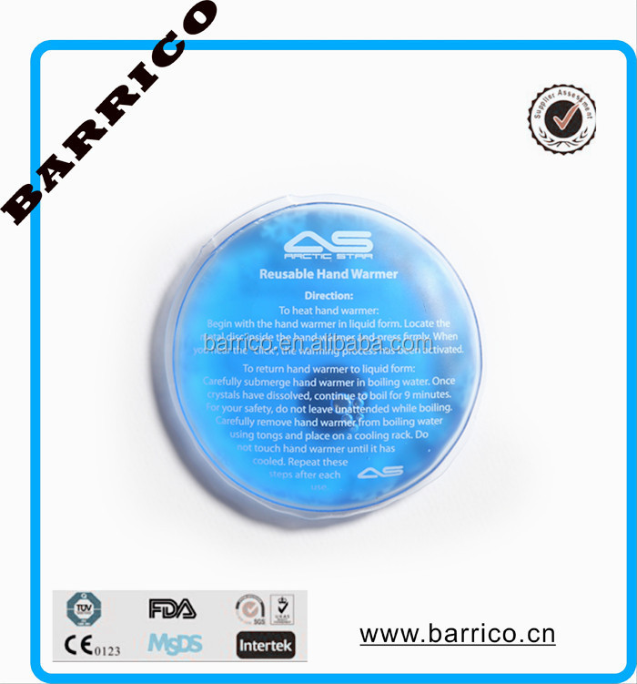 Manufacture round gel heat pack/ Magic hand warmer CE/FDA approved
