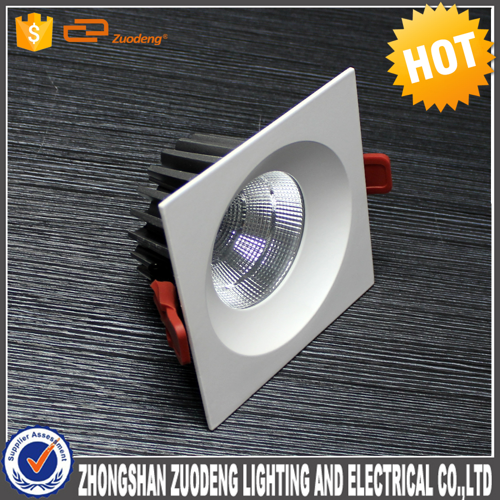 lighting factory guzhen 10 & 8 inch 40w cob led recessed ceiling down light square led downlight retrofit
