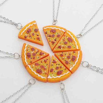 Friendship Pendant Necklace Seven flap stitching friends pizza lovers friendship pendant seven flap stitching friends pizza lovers friendship pendant necklace audiocablefo