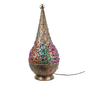 2019 New design Moroccan Lantern light multi color genie table lamp wholesale indian table lighting