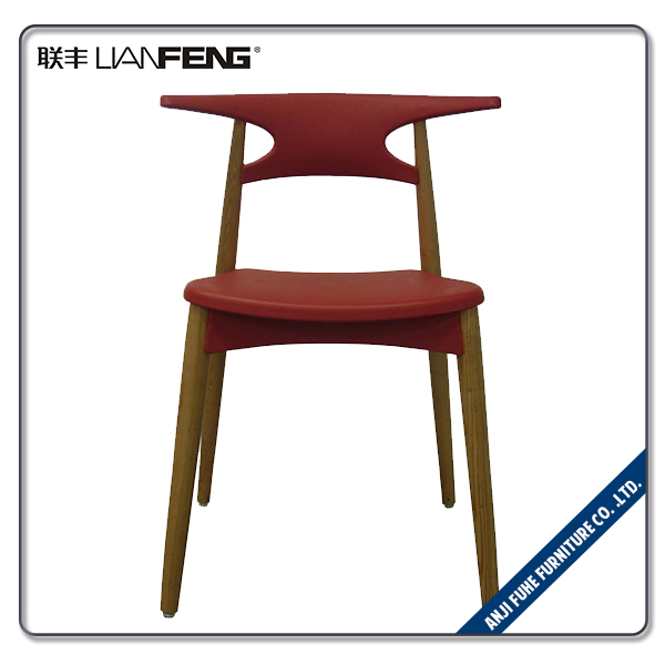 Light weight solid wood plastic bar chair for commerce