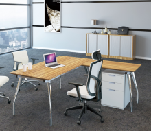 Modern Melamine L Shaped Wooden Office Furniture Customized Table CEO Mobile Pedestal Optional Manager Desk