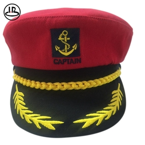 be2512b1e Red sailor ship yacht boat captain hat navy marines admiral cap hat