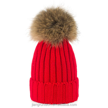 High quality ladies women s winter faux fur pom poms knitted beanie hats 94cf2de34