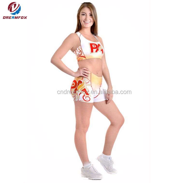 Benutzerdefinierte sublimation Team Cheerleading Uniformen Jubeln tanzabnutzung Jubeln Uniformen