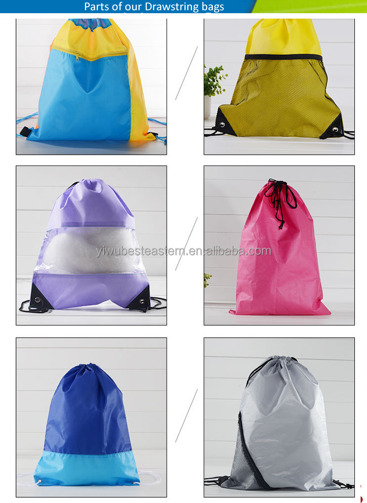 Fashion Cheap Promotional Customized Drawstring Gift Bag