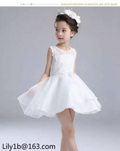 stock new style children clothing baby wedding dresses fashion flower organza party dress