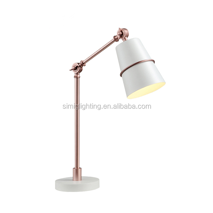 2017 gold creative led e27 designer lamp brass and copper color table lamp for Bed Room
