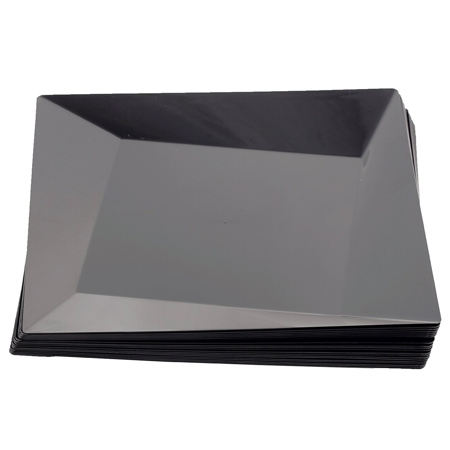 Get Quotations · Party Essentials 20-Count Hard Plastic 10.75\  Twisted Square Dinner Plates Black  sc 1 st  Alibaba & Cheap Black Plastic Plates Square find Black Plastic Plates Square ...