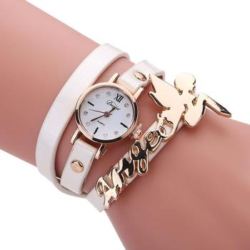 montre femme fantaisie bracelet cuir