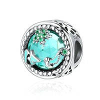 Fashion New Genuine 925 Sterling Silver Mystery Ocean Charms Beads Fit Pandora Charm Bracelets DIY Stone Jewelry BAMOER