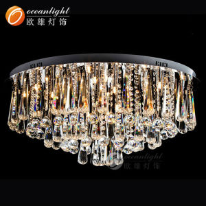 Gold crystal flower shape celling light,hotel or home crystal drop light OM7706