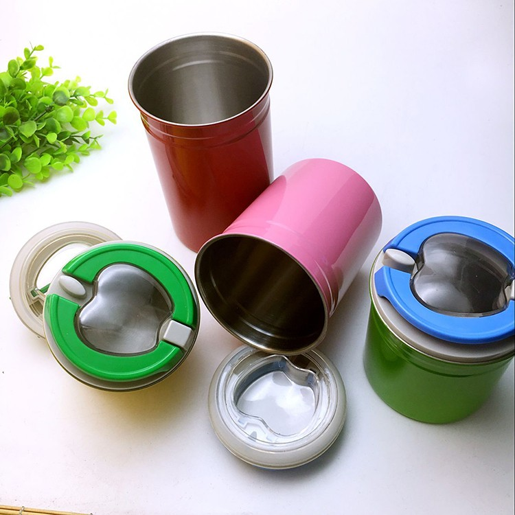 Colord 4pcs Stainless Steel airtight Jar Set/Canister Jar