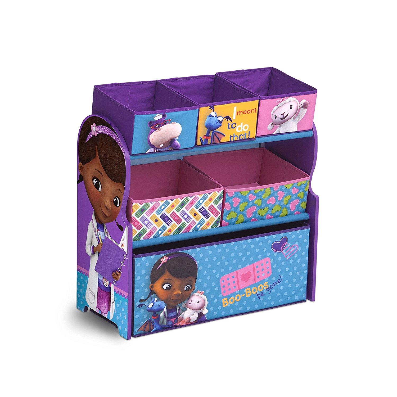 Delta Children Multi-Bin Toy Organizer, Disney Junior Doc McStuffins