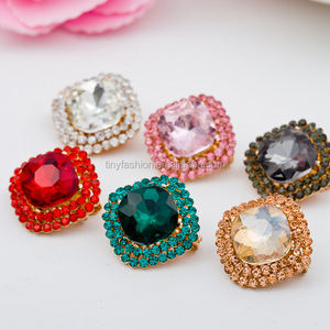 Fashion Custom Design Muslim Crystal Square Shaped Metal Hijab Safty Pin Shawl Clip Wholesale