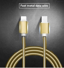 New Metal USB Data Charger Cable Iphone Android Mobile Phone Fast Charging Cable