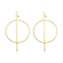 Artilady simple geometric round copper plated steel earrings for women
