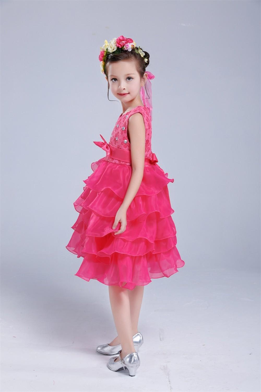 Children Girl Toddler Formal Fancy Dress Christening Wedding Party 1-6 years