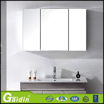 New Design Aluminum Triangle Bathroom Mirror Cabinet Lowes