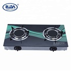gas saving big flame tempered glass ceramic 2 two burner cooktops infrared gas burner cooker stove