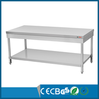 assemble stainless steel kitchen work table with under shelf