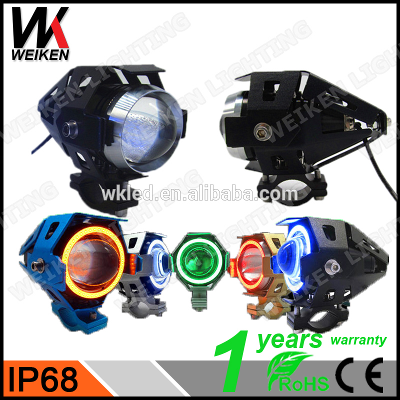 WEIKEN moto devil eye projector headlight 15w motorcycle led headlights