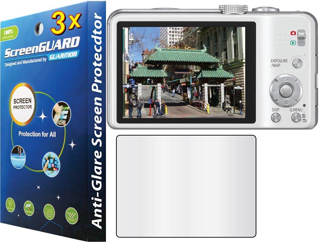 3x Panasonic Lumix DMC-ZS20 DMC-ZS15 DMC-TZ30 DMC-TZ25 Digital Camera Premium Anti-Glare Anti-Fingerprint Matte Finishing LCD Screen Protector Guard Shield Kit (NO CUTTING, GUARMOR Brand)