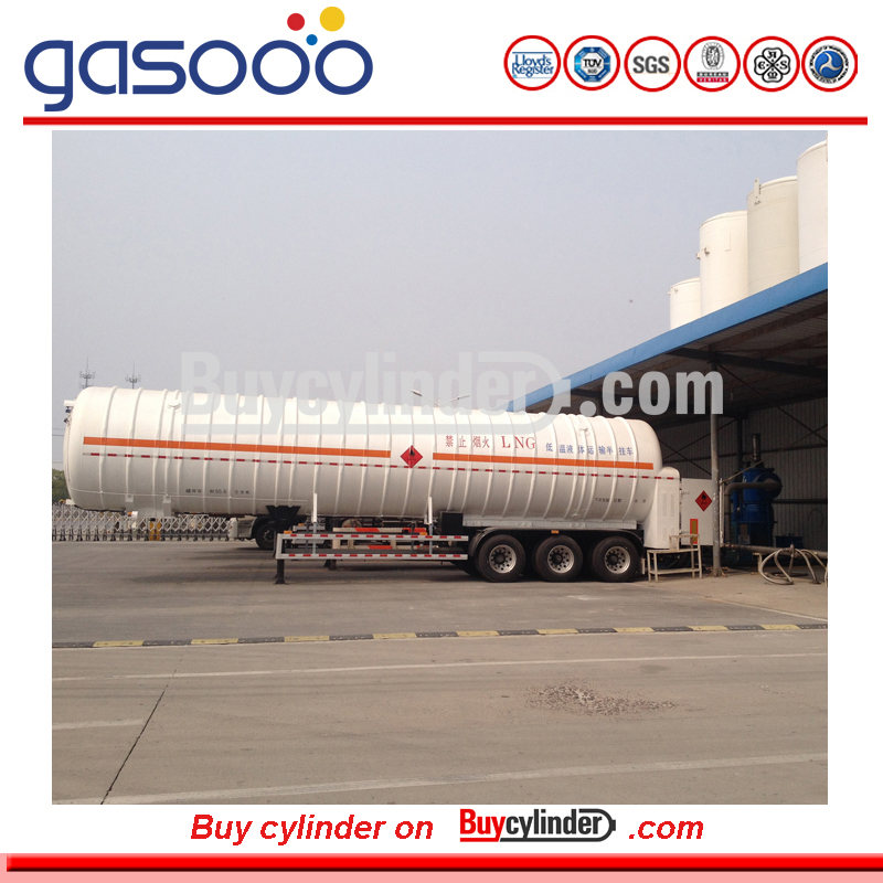 5 m3 to 53M3 Insulation Cryogenic Liquid Lorry CO2 tanker trailer