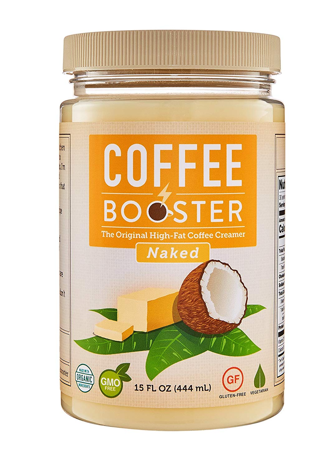 a874af04d1f Coffee Booster - Organic High-Fat Coffee Creamer - All Natural Keto  Friendly Butter Blend