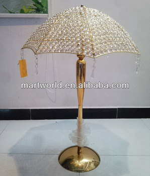 2018 new design gold crystal umbrella wedding table centerpiece for 2018 new design gold crystal umbrella wedding table centerpiece for wedding decorationtable centerpieces junglespirit Images