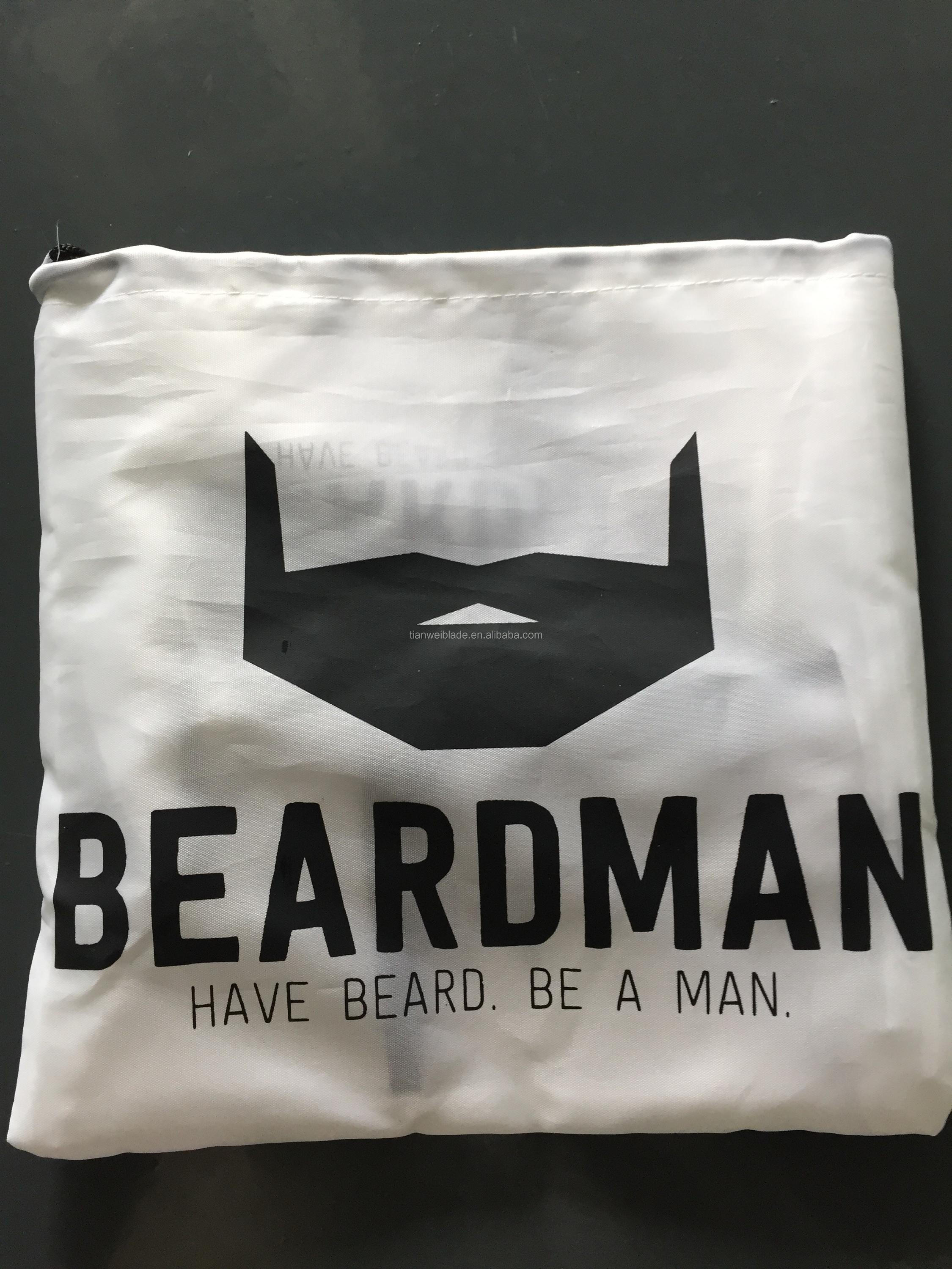 Beard Shaving Apron, Beard Trimming Hair Catcher for Easy Clean. Professional Premium Salon Quality Material
