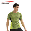 Custom men athletic branded mesh activewear t-shirts no minimum