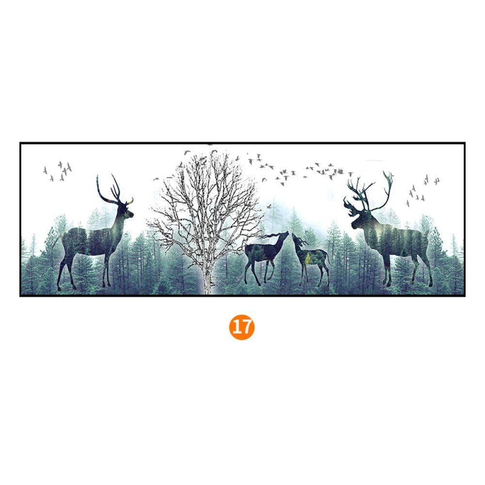PLLP Stylish elk bedroom bedside painting, modern minimalist framed Nordic decorative painting, framed wall paintings