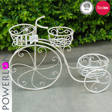 Antirust 3 Pots Light Weight Bicycle Metal Plant Pot Stand