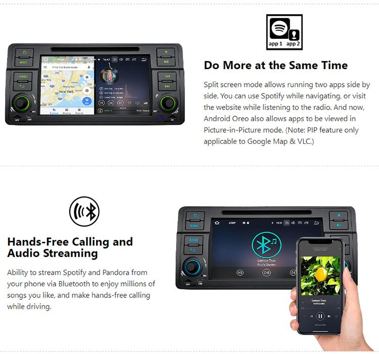 Eonon Ga9150b For Bmw E46 Android 8 0 Octa-core 7 Inch Car Dvd Player Car  Gps Navigation - Buy Android Car Multimedia,Car Gps For Bmw E46,Eonon Car