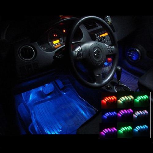 Car led strip light waterproof 12v 12w 4 car 7 color 72 - Automotive interior led light strips ...