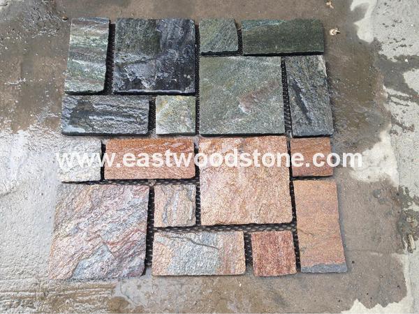 Japanese Style Yellow Slate Decorative Flooring Stone Garden Floor Stone  Slate Price M2