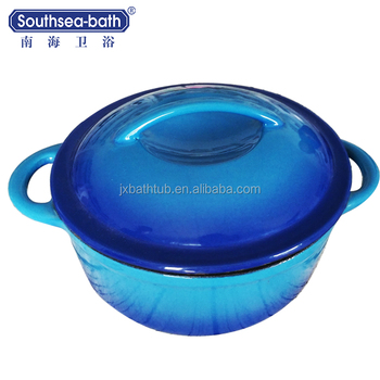 Blue Enamel Coating Cast Iron Pot Parini Cookware