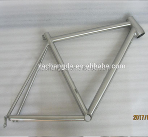 ti mtb bike frame with inner line routing and taper head tube mtb bike fram with simple design durable mountain bike frame