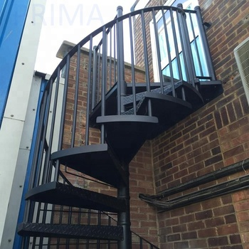 Manufacturer Of Outdoor Metal Fire Escape Stairs For Warehouse
