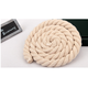 High Quality Natural White and Bleached Color Cotton 15mm Twisted Cotton Rope For Garment