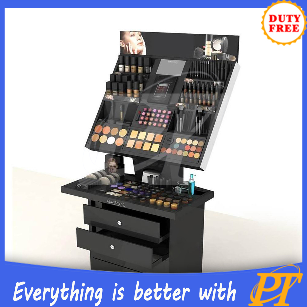 Model Wood Boat Makeup Stand Display For Cosmetic Displays