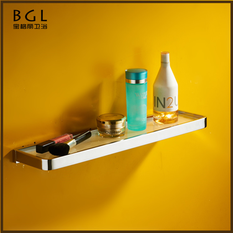 No.85137 Western Unique Design Bathroom Designs Brass Chrome Wall Mounted Bathroom Vanities Glass shelf