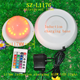 Brass lamp base bouncing ball with led bottle kit