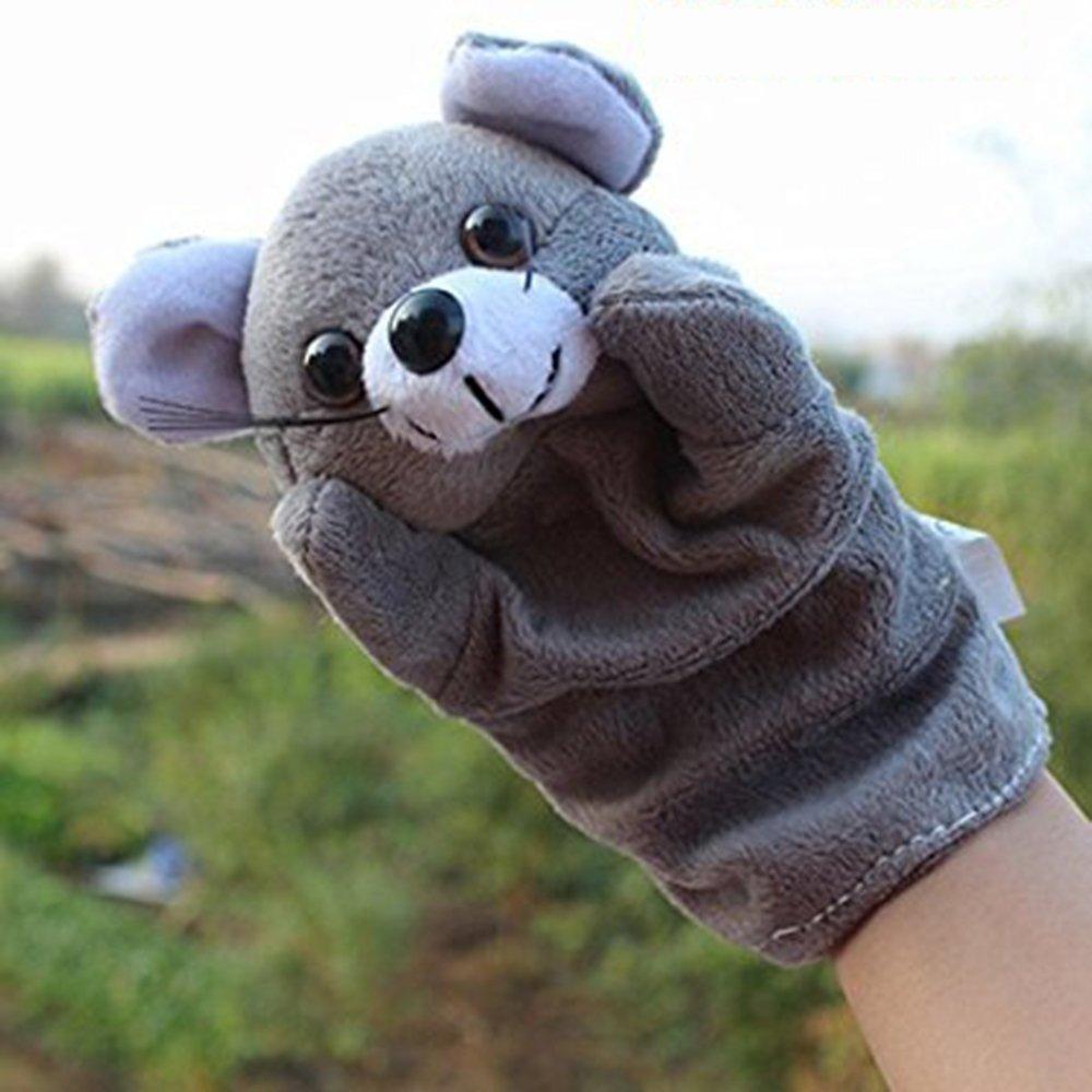 LUCKSTAR(TM) 1PC Cute Velvet Animal Style Hand & Finger Puppet Toy Plush Toy For Kids Preschool Kindergarten (Bear)