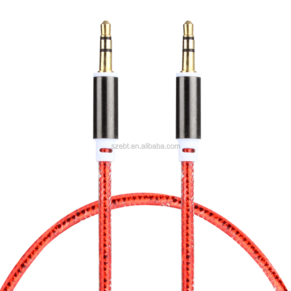 200PCS DHL Free Shipping3.5mm AUX Audio <strong>Cables</strong> Male To Male Stereo Car Extension Audio <strong>Cable</strong> For MP3 For phone