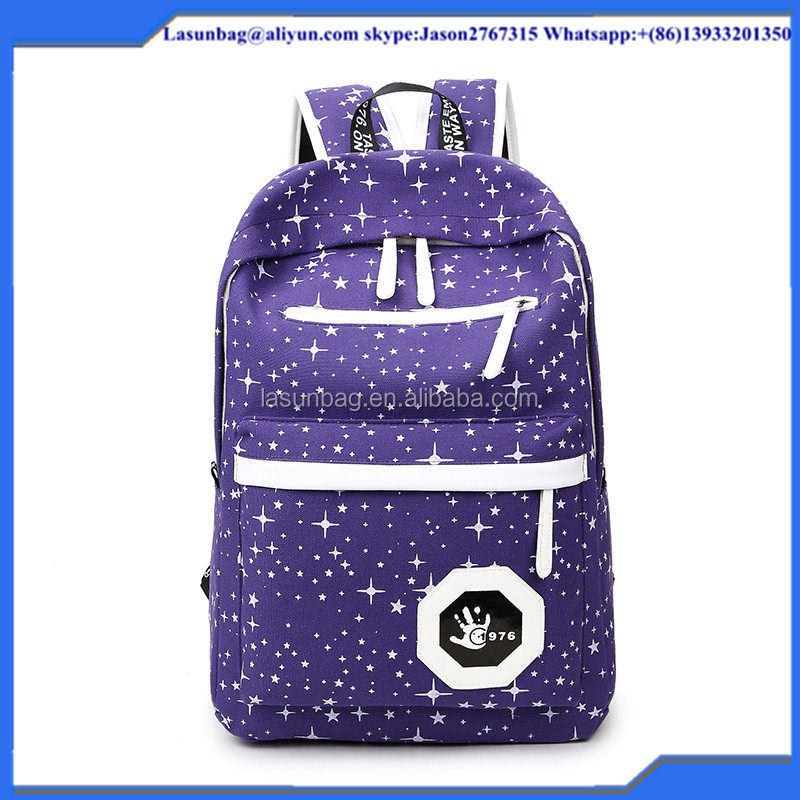 Hot Sale Korea fashion Ladies Canvas bakcpack for Hiking School Traveling