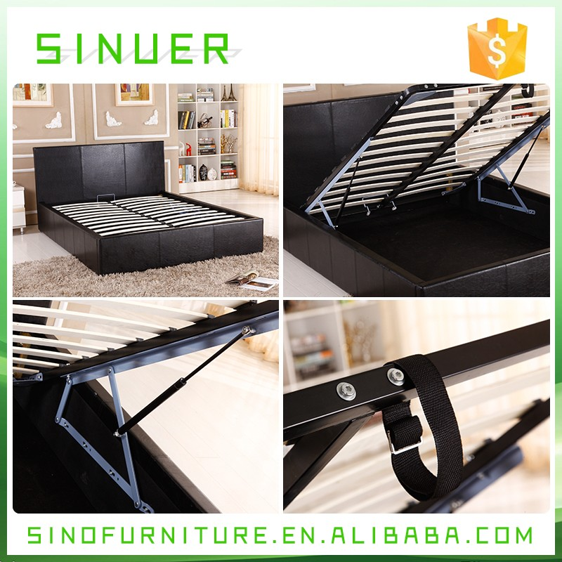 Diseño De Moda Solide Muebles De Dormitorio De Madera Pu Cuero ...