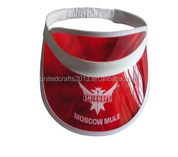 ad04d31ad3b56b 2016 promotional gifts custom made high quality transparent pvc sun visor,  golf visor