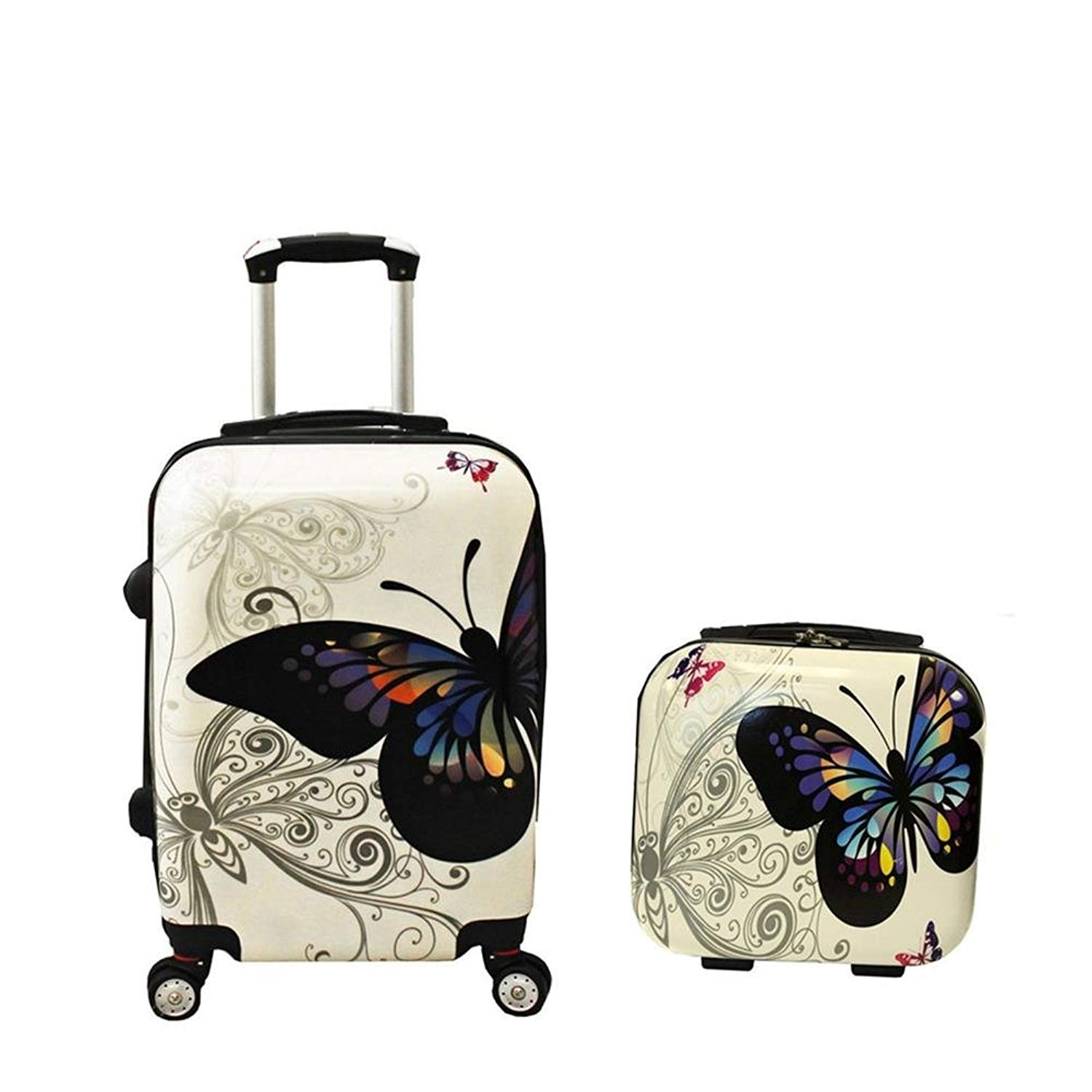 Insun Luggage 2 Piece Carry On Spinner Hardside Upright Wheel Sets